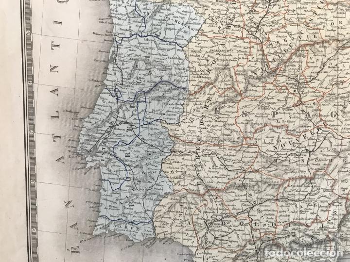 Arte: Gran mapa de España y Portugal, 1874. A.Brué/Levasseur - Foto 10 - 253539520