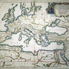 Arte: MAPA DE EUROPA Y NORTE DE ÁFRICA EN LA ANTIGUEDAD CLÁSICA, CA. 1690. SANSON/MORTIER. Lote 253646320
