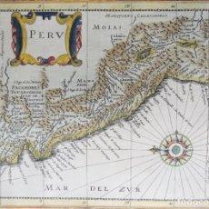 Arte: PERU, ECUADOR, BOLIVIA, MAPA POR JANSSONIUS, 1676, PERU. Lote 253777690