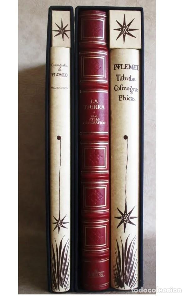 FACSIMIL ATLAS MAPA PTOLOMEO COSMOGRAFIA.: EBRISA-PLANETA 3 VOLUMENES , ESTUDIOS - ESTUCHES (Arte - Cartografía Antigua (hasta S. XIX))