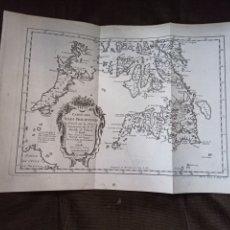 Arte: MAPA DE LAS ISLAS FILIPINAS. R. P. MURILLO DE VELARDE. ECHELLE, 1752. Lote 254524130