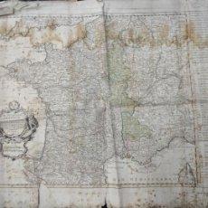 Arte: MAPA SIGLO XVIII EL REYNO DE FRANCIA Y SUS FAISES CONFINANTES HASTA LA EXTENSION DE LA ANTIGUA GALIA. Lote 254726555
