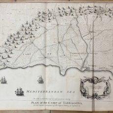 Arte: PLAN OF THE CAMP OF TARRAGONA. 1711. TINDAL, J. BASIRE. MAPA-PLANO TARRAGONA.. Lote 254797035