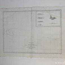 Arte: MAPA ANTIGUO SIGLO XVIII ISLA NECKER HAWAI ESTADOS UNIDOS USA 1787 LA PEROUSE JEAN FRANÇOIS D GALAUP. Lote 259866425