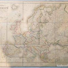 Arte: MAPA 1852 . ITINERARIO DE EUROPA Y SUS DIVISIONES POLITICAS.THUILLIER. Lote 259936290