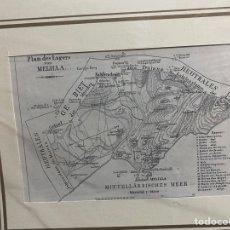 Arte: GRABADO ORIGINAL. PLANO DEL CAMPAMENTO DE MELILLA, CIRCA 1894. Lote 260078950