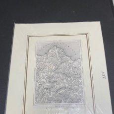 Arte: GRABADO ORIGINAL. MAPA OVIEDO, AVILÉS, GIJÓN,... CIRCA 1880. Lote 260079820