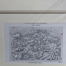 Arte: GRABADO ORIGINAL. SANTOÑA Y SANTANDER, NOJA, LAREDO... CIRCA 1885. Lote 260080325