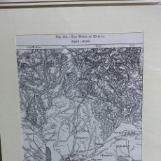 Arte: GRABADO ORIGINAL. MAPA DE LAS MINAS DE HUELVA CIRCA 1885. Lote 260080505