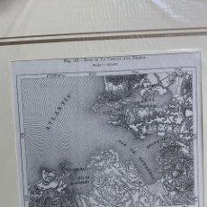 Arte: GRABADO ORIGINAL. MAPA DE LAS RIAS DE LA CORUÑA Y FERROL. GALICIA. CIRCA 1885. Lote 260080610