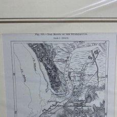 Arte: GRABADO ORIGINAL. MAPA DE LA BOCA DE GUADALQUIVIR. SAN LUCAR DE BARRAMEDA.CIRCA 1885. Lote 260080770