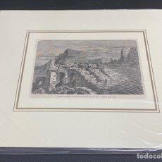 Arte: GRABADO ORIGINAL. GUSTAVO DORÉ. TEATRO ROMANO DE SAGUNTO. VALENCIA. CIRCA 1862. Lote 260082260