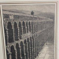 Arte: GRABADO ORIGINAL. ACUEDUCTO DE MÉRIDA. CIRCA 1878. Lote 260082950