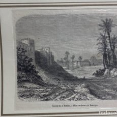 Arte: GRABADO ORIGINAL. ELCHE CONVENTO.. DISEÑO DE ROUARGUE. CIRCA 1860. Lote 260084940