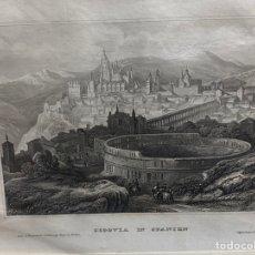 Arte: GRABADO ORIGINAL. SEGOVIA. CIRCA 1860. Lote 260085515