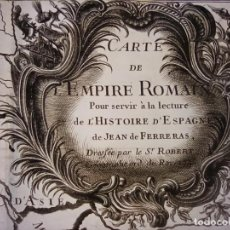 Arte: ESPLÉNDIDO MAPA DEL IMPERIO ROMANO, ORIGINAL, 1742, PARIS, VANGOUDY / LATTRÉ, GRAN TAMAÑO. Lote 260764990