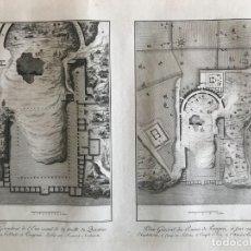 Arte: PLANOS DE LA CIUDAD ROMANA DE POMPEYA (ITALIA), 1782. J.C. RICHARD DE SAINT-NON/RENARD/BERTHAULT. Lote 261214060