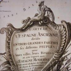 Arte: ESPLÉNDIDO MAPA ESPAÑA ANTIGUA Y MODERNA, ORIGINAL, 1742, PARIS, VANGOUDY / LATTRÉ, GRAN TAMAÑO. Lote 261257590
