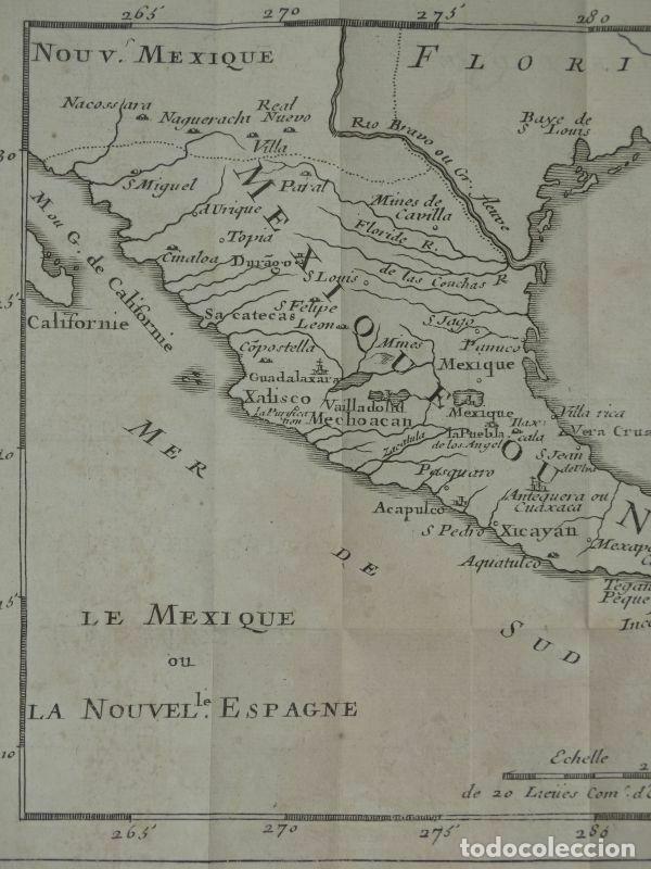 Arte: Mapa de México y América central, 1723. William Dampier - Foto 2 - 261523325