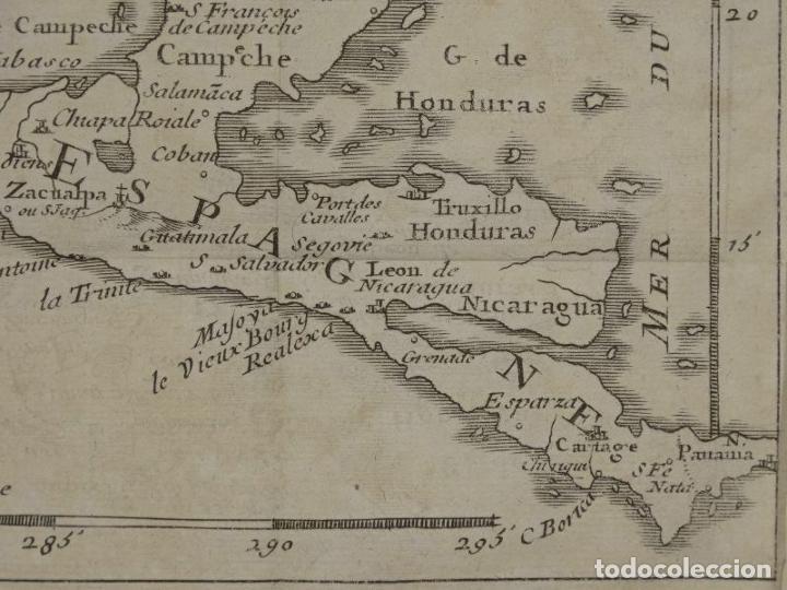 Arte: Mapa de México y América central, 1723. William Dampier - Foto 8 - 261523325