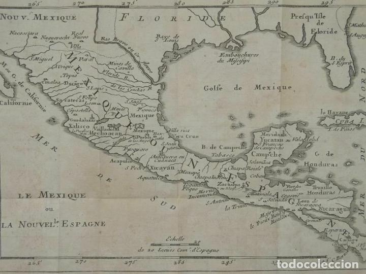 Arte: Mapa de México y América central, 1723. William Dampier - Foto 10 - 261523325