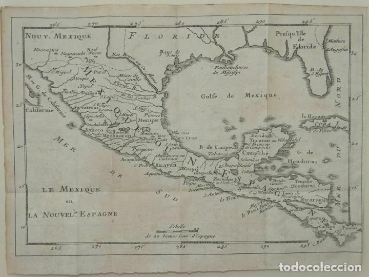 Arte: Mapa de México y América central, 1723. William Dampier - Foto 12 - 261523325