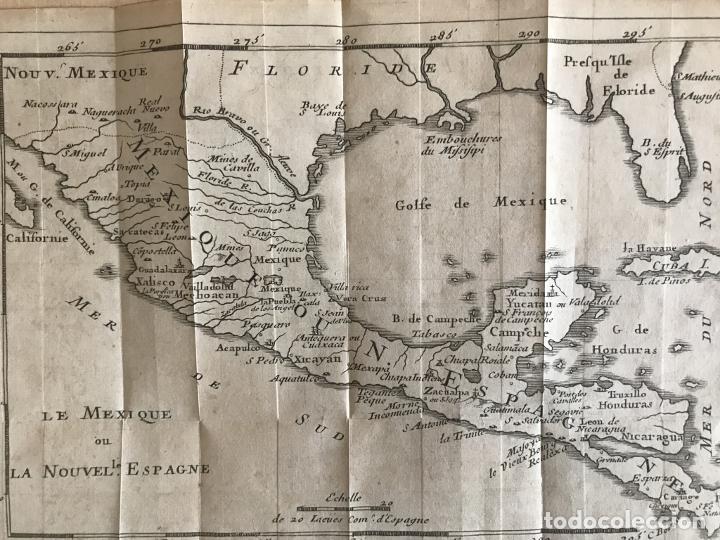Arte: Mapa de México y América central, 1723. William Dampier - Foto 18 - 261523325