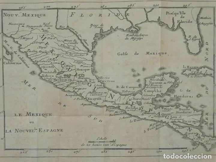 MAPA DE MÉXICO Y AMÉRICA CENTRAL, 1723. WILLIAM DAMPIER (Arte - Cartografía Antigua (hasta S. XIX))