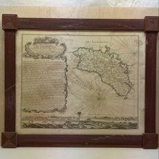 Arte: GRAN REPRO MAPA DE MENORCA BEAURAIN 1757. Lote 262298395