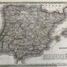 Arte: MAPA DE ESPAÑA Y PORTUGAL ANTIGUOS, 1850. MEYER. Lote 262561410