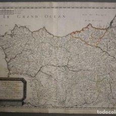Arte: GRAN MAPA DE GALICIA, ASTURIAS, CANTABRIA Y PAÍS VASCO (ESPAÑA),1652. NICOLÁS SANSON/MARIETTE. Lote 263755560