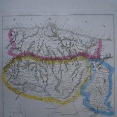 Art: (PA-210514)MAPA DE LAS PROVINCIAS DE ASTURIAS,LEON Y PALENCIA. 1838, DEL GUARDIA NACIONAL.. Lote 263918890