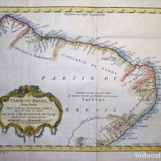 Arte: MAPA DEL NORDESTE DE BRASIL, 1757. BELLIN/PREVOST. Lote 264165044