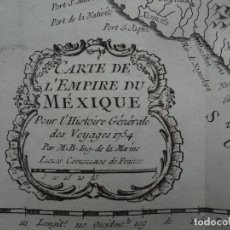 Arte: MAPA DE MÉXICO (AMÉRICA DEL NORTE, 1754. BELLIN/PREVOST. Lote 264172780
