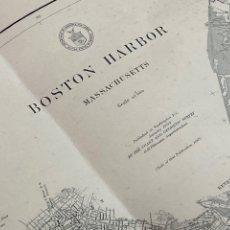 Art: AMÉRICA. BOSTON HARBOR, MASSACHUSETTS. CARTA NÁUTICA. 1867. 1904. GRAN FORMATO. 91X111 CM.. Lote 264228456