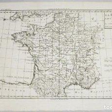 Arte: MAPA DE FRANCIA, 1787. R. BONNE. Lote 264257012