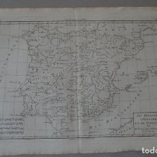 Arte: MAPA DE ESPAÑA Y PORTUGAL, 1787. BONNE/ANDRÉ. Lote 264258120