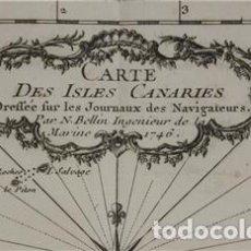 Arte: MAPA DE LAS ISLAS CANARIAS, 1746. BELLIN/PREVOST. Lote 264261584