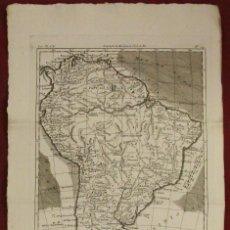 Arte: MAPA DE AMÉRICA DEL SUR, 1780. BONNE/RAYNAL. Lote 264314060