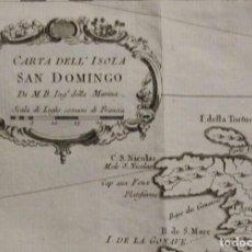 Arte: MAPA DE HAITÍ Y REPUBLICA DOMINICANA (AMÉRICA), 1785. EDICIÓN ITALIANA. BELLIN. Lote 264315464