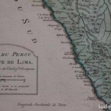 Arte: MAPA A COLOR DEL NORTE DE PERÚ (AMÉRICA DEL SUR), 1756. BELLIN/ANVILLE. Lote 264316688