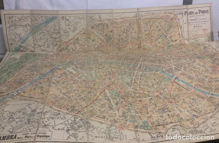 """Arte: """"Nouveau plan de Paris"""" Cartes Taride c.1920s Street Mapa De Paris- - Foto 2 - 264717364"""
