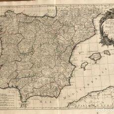 Arte: GRAN MAPA A COLOR DE ESPAÑA Y PORTUGAL, 1776. JANVIER/SANTINI/REMONDINI. Lote 265439844