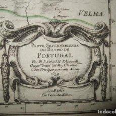 Arte: GAN MAPA DEL NORTE DE PORTUGAL, 1654. NICOLAS SANSON. Lote 265446679