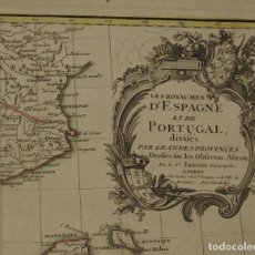 Arte: MAPA DE ESPAÑA Y PORTUGAL, 1783. JANVIER/LATTRE. Lote 265458409