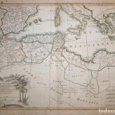 Arte: GRAN MAPA DEL SUR DE EUROPA Y NORTE DE ÁFRICA, 1787. BONNE/LATTRE. Lote 265462884