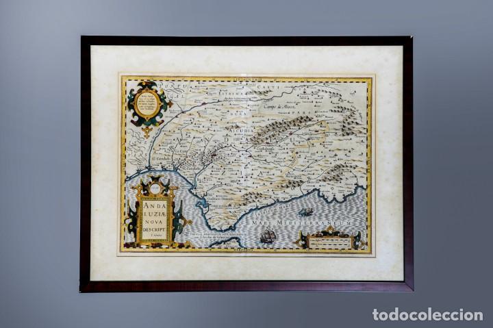 Arte: ANDALUZIAE NOVA DESCRIPT - JODOCUS HONDIUS 1606 - Foto 2 - 265979443