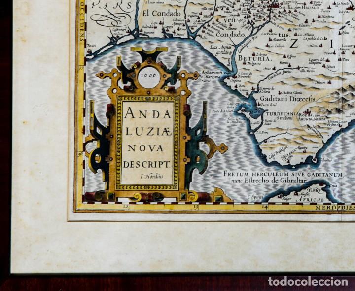 Arte: ANDALUZIAE NOVA DESCRIPT - JODOCUS HONDIUS 1606 - Foto 3 - 265979443
