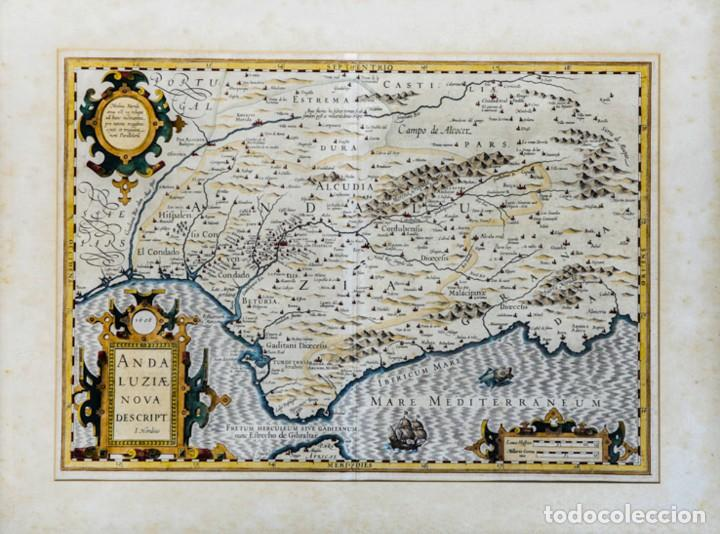 ANDALUZIAE NOVA DESCRIPT - JODOCUS HONDIUS 1606 (Arte - Cartografía Antigua (hasta S. XIX))