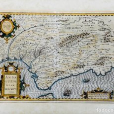 Arte: ANDALUZIAE NOVA DESCRIPT - JODOCUS HONDIUS 1606. Lote 265979443